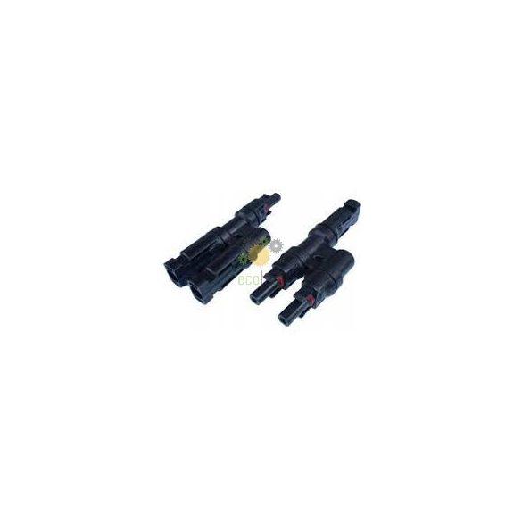 Conector distributior Y fotovoltaic MC4, +